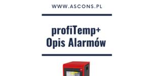 profiTemp+ Opis Alarmów